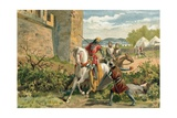 Death of King Sancho at the Siege of Zamora Giclee Print by  Spanish School