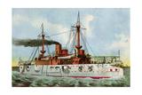 "U.S. Battleship ""Texas,"" Circa 1900 Photographic Print"