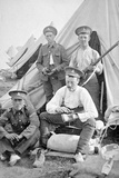 British Soldiers in Camp Cleaning their Kit, 1914 Photographic Print by  English Photographer