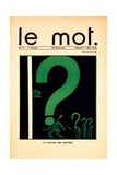 La Veillée des Neutres, Cover of 'Le Mot' Magazine, May 1 1915 Giclee Print by Paul Iribe