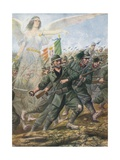 Battle of Piave River, 1918 Giclee Print by Tancredi Scarpelli