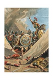 Viriathus in Battle Giclee Print by  Spanish School