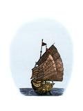 Chinese Sailing-Ship Giclee Print