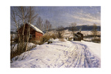 A Winter Landscape, Lillehammer, 1922 Giclee Print by Peder Monsted