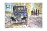 Vintage Car, Richmondtown, 2013 Giclee Print by Anthony Butera