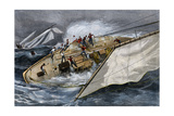 Corinthian Yacht Crew Endangered by Misunderstanding Orders, 1880s Photographic Print