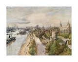 The Tower, from Tower Bridge, Looking West Giclee Print by John Fulleylove