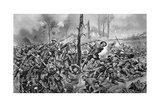 Brigade of Guards in Action During WWI, 1918 Giclee Print by Richard Caton Woodville II