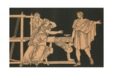 The Mother of Euryalus Receiving the News of His Death Giclee Print by Bartolomeo Pinelli