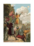 Pelagius at Covadonga Giclee Print by J. Casanovas