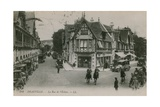 Deauville, La Rue de l'Ecluse. Postcard Sent in 1913 Giclee Print by French Photographer