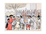 The Oncourse Bookie, c.1905 Giclee Print by E. Thelem
