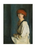 The Red Hat, 1920 Giclee Print by Harrington Mann