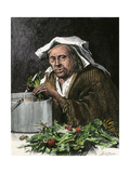 Italian-American Grandmother Preparing Soup for Supper, New York City, 1870s Giclee Print