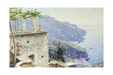 The Ravello Coastline, 1926 Giclee Print by Peder Monsted