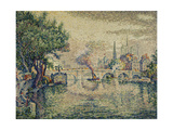 The Pont Neuf (Notre Dame Seen from the Pont-Neuf); Le Pont Neuf (Notre Dame de Paris Vue Du… Giclee Print by Paul Signac