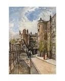 The Byward and Bell Towers, with the King's House on the Right Giclee Print by John Fulleylove