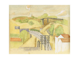 Study for the Meulan Viaduct; Etude Pour Le Viaduc de Meulan, 1912 Giclee Print by Roger de La Fresnaye