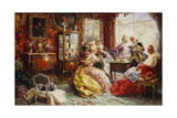 An Afternoon in the Salon, 1902 Giclee Print by Salvador Sanchez Barbudo