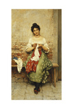 The Seamstress, 1901 Giclee Print by Eugen Von Blaas