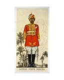 Commandant of the Alwar State Forces, Indian Princely States, 1938 Giclee Print