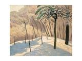 Snowy Landscape, Bois de Boulogne, 1925 Giclee Print by Felix Edouard Vallotton