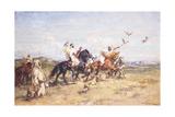 The Falcon Chase; La Chasse Au Falcon, 1923 Reproduction procédé giclée par Henri Emilien Rousseau