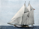 "Yacht ""America,"" First Winner of the America's Cup Race, in a Later Rig Giclée-trykk"