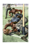 Touchdown Scored in a College Football Game, Early 1900s Photographic Print