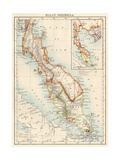 Map of Malay Peninsula, 1870s Giclee Print