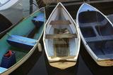 Small Boats Along Bar Harbor Pier, Mount Desert Island on the Atlantic Coast of Maine Fotografie-Druck