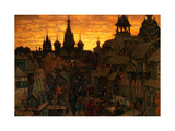 Ancient Moskow. Street in Kitay-gorod in the 17 Century Giclee Print