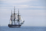 "USS Constitution ""Old Ironsides"" Under Sail, Massachusetts Bay, Celebrating Its Bicentennial, 1997 Stampa fotografica"