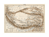 Map of Tibet, 1870s Giclee Print