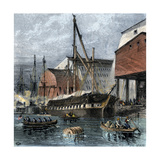 Busy US Navy-Yard in Philadelphia, 1870s Giclee Print