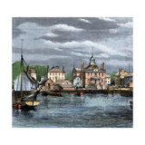 Harbor and Custom-House in Salem, Massachusetts, Circa 1870 Giclee Print