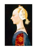 A Young Lady of Fashion Gicléetryck av Paolo Uccello
