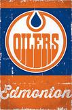 Edmonton Oilers Retro Logo Posters