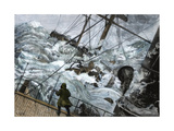 "Orient Line Steamship ""Chimborazo"" in a Gale, 1880 Giclee Print"