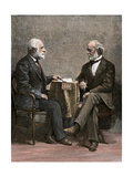 Confederate Generals Robert E. Lee and Joseph E. Johnston, From a Photograph Taken After the War Giclee Print