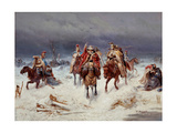 French Army Crossing the Berezina in November 1812 Giclee Print
