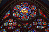 Stained-Glass Windows of Notre-Dame Cathedral, Begun in 1163, Paris, France Photographic Print