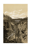 Canadian Pacific Railroad Trestle Over Stoney Creek, 296 Feet High, 1880s Photographic Print
