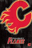 Calgary Flames Logo Poster