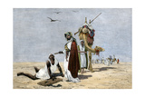 Arab Slave Trader Shooting An Exhausted Slave in the African Desert Photographic Print