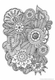 Black and White Floral Design II Posters by Sara Gayoso