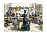 "Teaching Objects to Children in a ""colored School,"" New York City, 1870 Giclee Print"