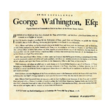 General Washington's Orders for the Occupation of Boston by the Continental Army, 1776 Giclee Print