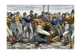 Scoring a Goal in English Football, 1880s Papier Photo