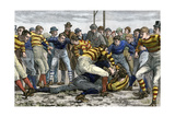 Scoring a Goal in English Football, 1880s Photographic Print